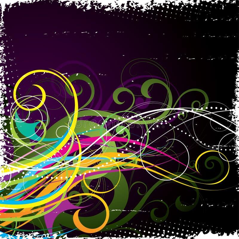 абстрактная вычура предпосылки иллюстрация вектора