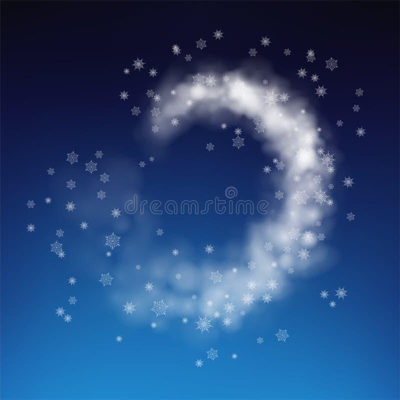 Абстрактная вьюга снега иллюстрация вектора