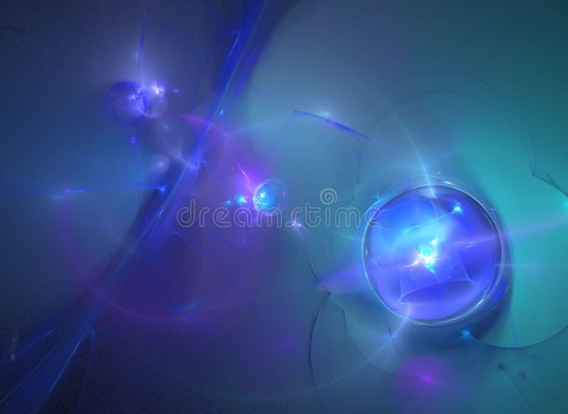 абстрактная галактика фрактали иллюстрация штока