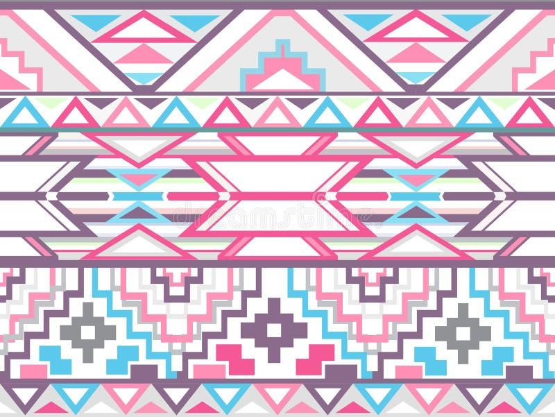 Абстрактная геометрическая безшовная ацтекская картина иллюстрация вектора