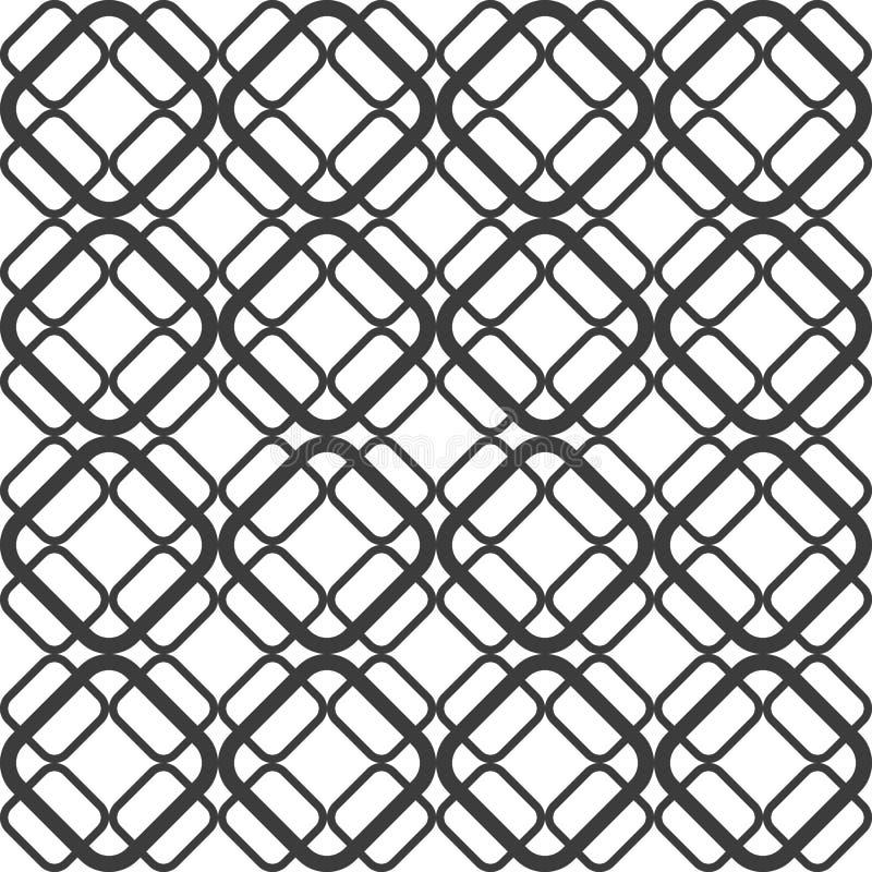 Абстрактная геометрическая безшовная картина предпосылки иллюстрация штока