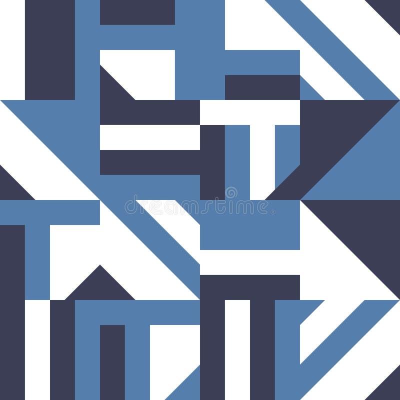 Абстрактная геометрическая безшовная картина Современная иллюстрация вектора мозаики иллюстрация вектора