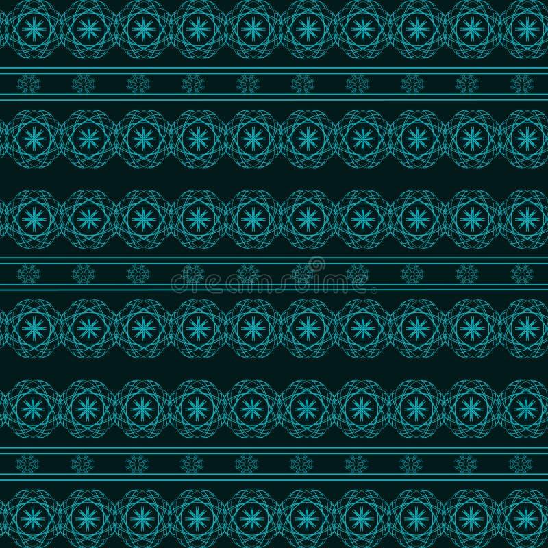 Абстрактная геометрическая голубая безшовная картина на темной предпосылке стоковые изображения