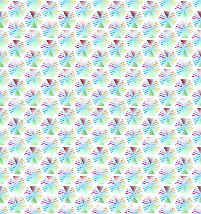 Абстрактная геометрическая линия предпосылка картины красочного шестиугольника безшовная бесплатная иллюстрация