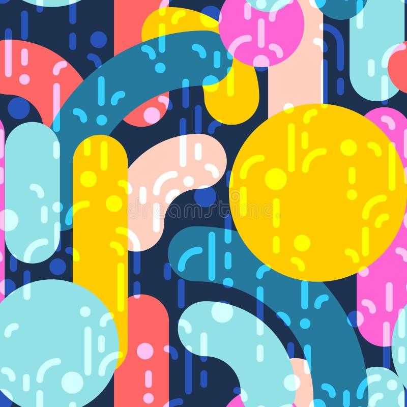 абстрактная геометрическая картина безшовная Линейная предпосылка мотива бесплатная иллюстрация
