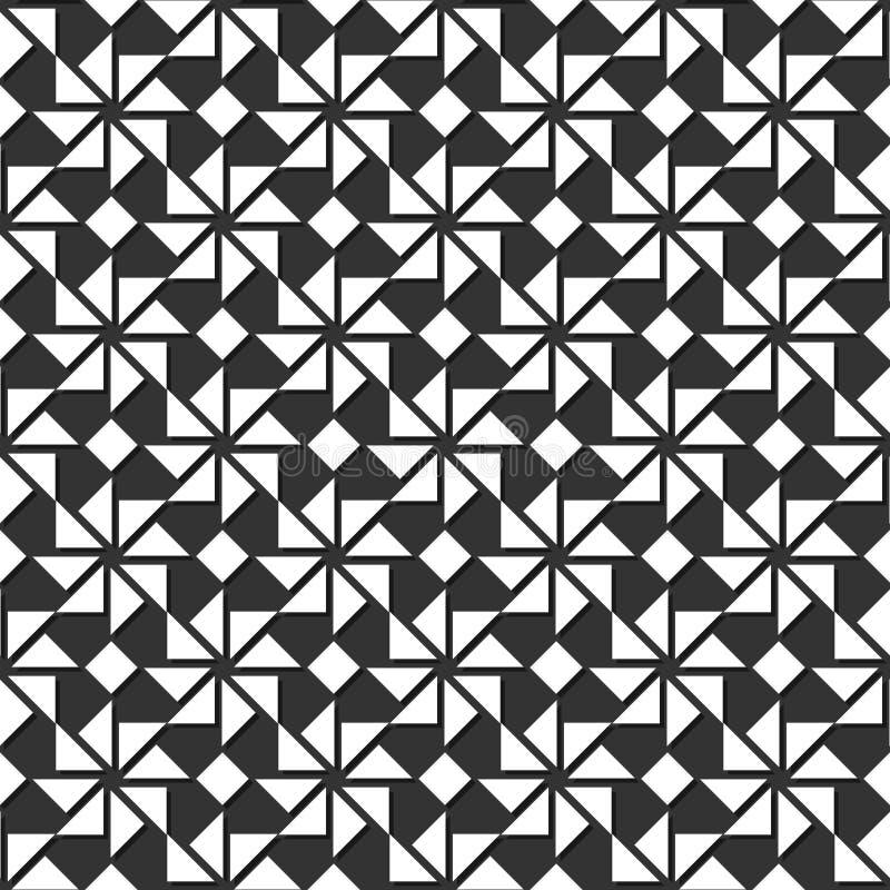 абстрактная геометрическая картина безшовная также вектор иллюстрации притяжки corel иллюстрация штока