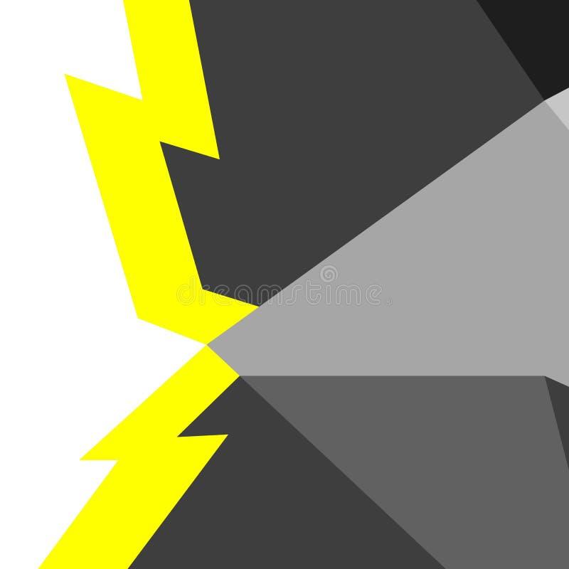 Абстрактная геометрическая картина вектора в стиле технологии иллюстрация штока