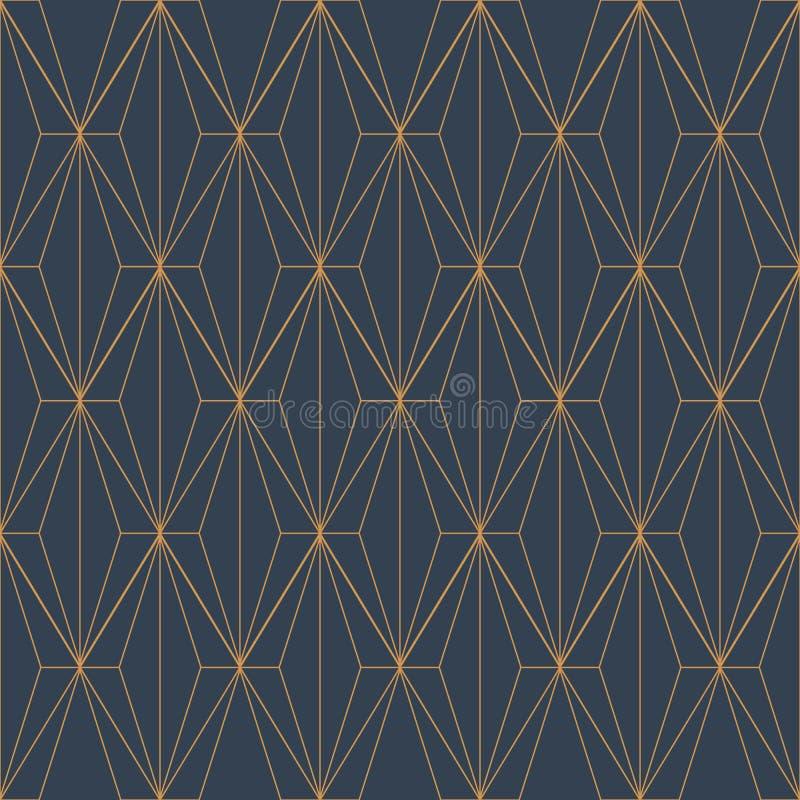 Абстрактная геометрическая картина кубов печати 3d графического дизайна косоугольника иллюстрация вектора