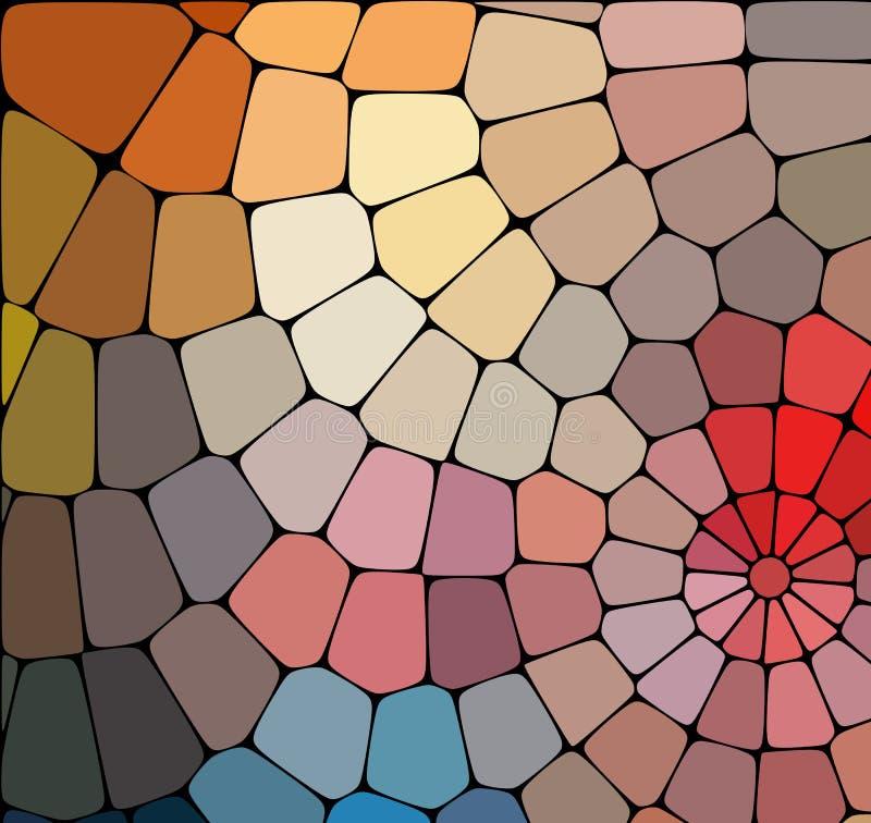 абстрактная геометрическая картина Милая предпосылка мозаики Цветастая конструкция Орнамент калейдоскопа декоративный Идеал для з иллюстрация штока