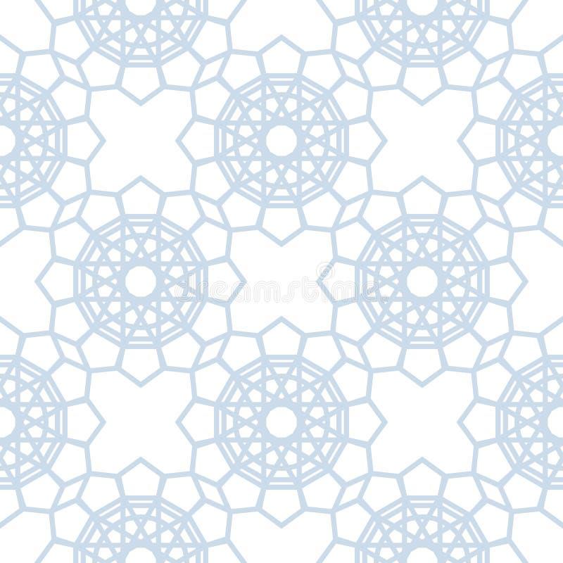 абстрактная геометрическая картина Предпосылка света - голубая и белая безшовная иллюстрация штока