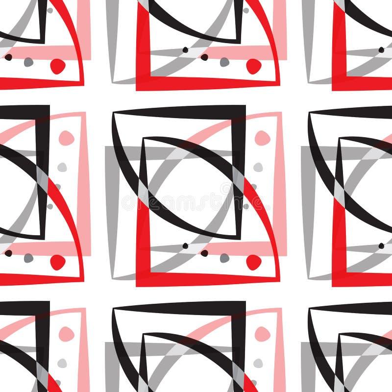 абстрактная геометрическая картина солнцецветы предпосылки безшовные иллюстрация вектора