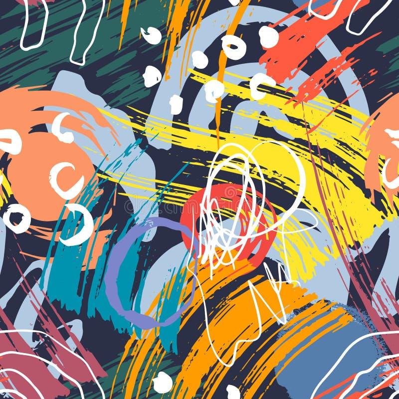 Абстрактная геометрическая картина с волнистыми линиями Backgrounded Doodle r бесплатная иллюстрация