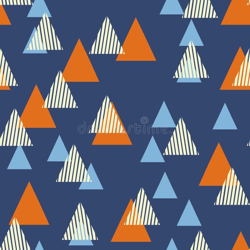 Абстрактная геометрическая картина с треугольниками Скандинавский плоский стиль иллюстрация вектора