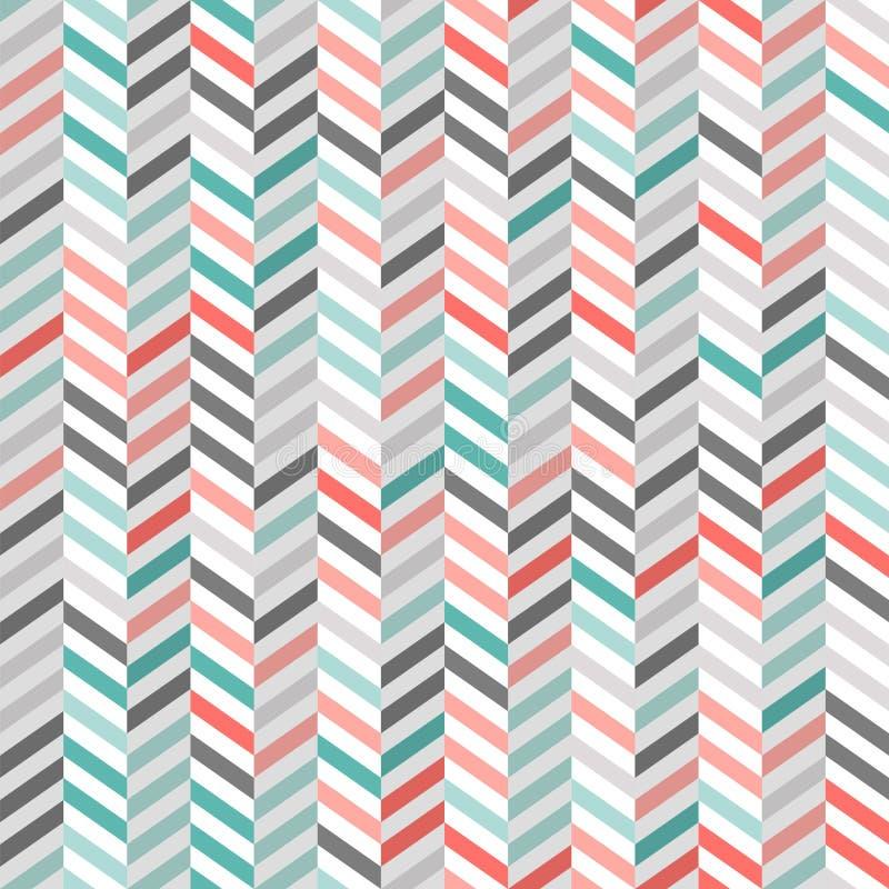Абстрактная геометрическая картина с чередуя линиями зигзага вкосую бесплатная иллюстрация