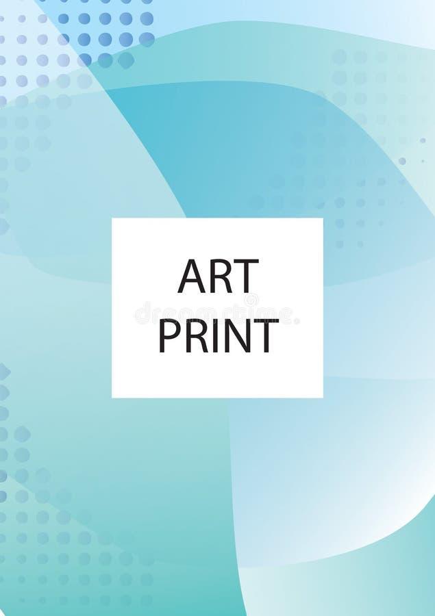 Абстрактная геометрическая предпосылка картины для дизайна крышки брошюры дела Голубой, желтый, красный, оранжевый, розовый и зел иллюстрация штока