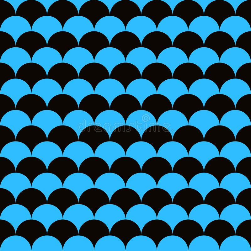 Абстрактная геометрическая предпосылка на морской теме Безшовные волны голубые картина или текстура squama бесплатная иллюстрация