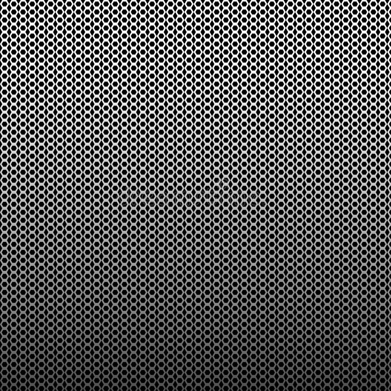 Абстрактная геометрическая предпосылка с темным - серые шестиугольники r бесплатная иллюстрация