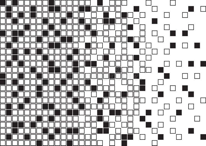 Абстрактная геометрическая предпосылка с черно-белыми квадратами r иллюстрация штока