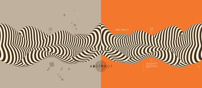 Абстрактная геометрическая предпосылка 3d также вектор иллюстрации притяжки corel иллюстрация вектора