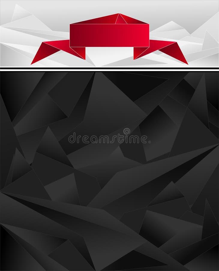Download Абстрактная геометрическая предпосылка с лентой Origami Иллюстрация вектора - иллюстрации насчитывающей скомкано, сигарета: 33729400