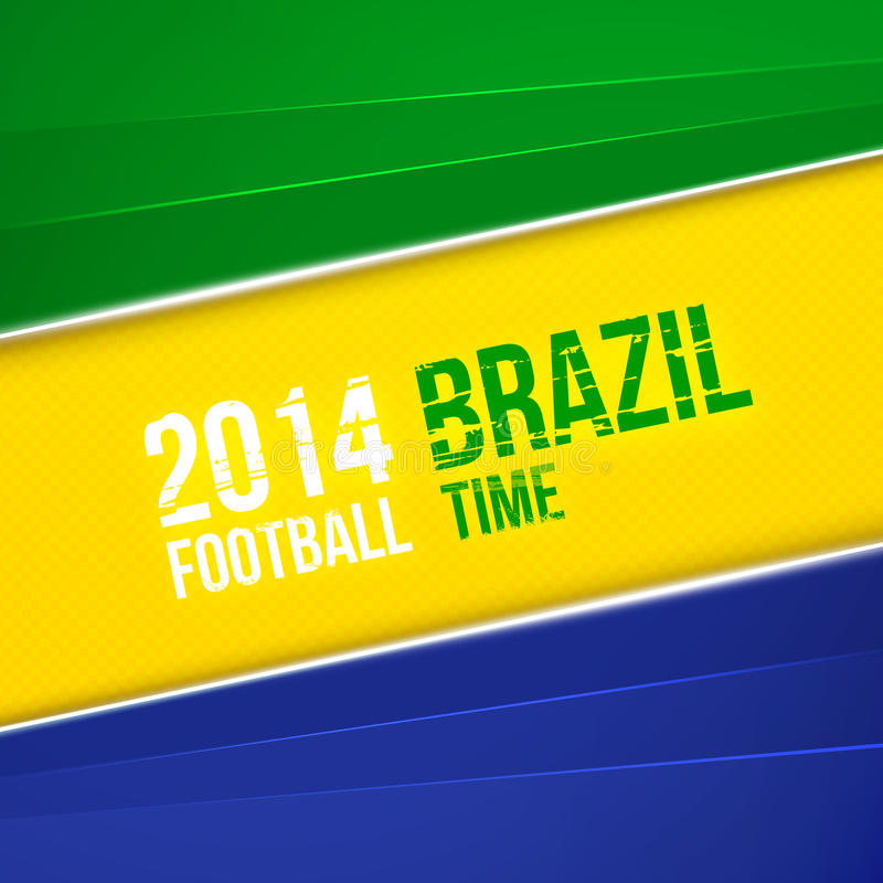 Абстрактная геометрическая предпосылка с цветами флага Бразилии. Иллюстрация вектора иллюстрация вектора