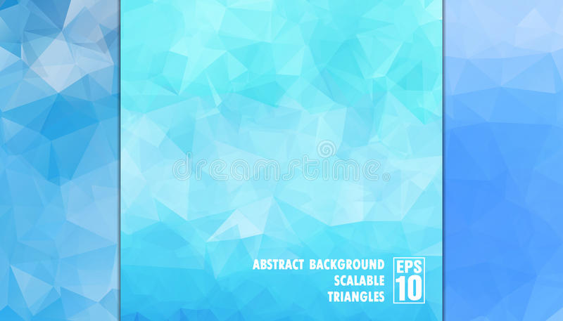 Абстрактная геометрическая предпосылка треугольников в свете - голубых цветов стоковая фотография