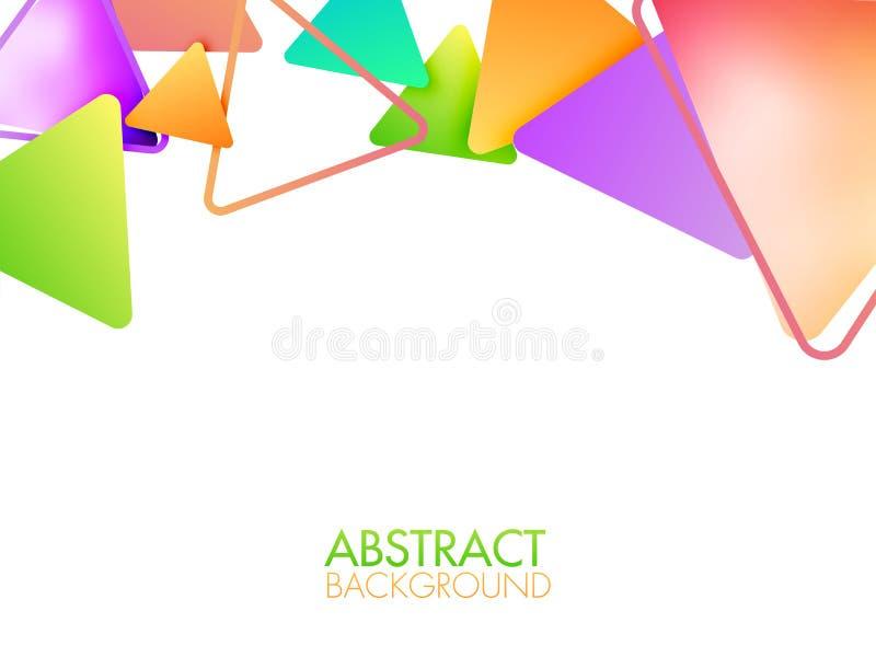 Абстрактная геометрическая предпосылка иллюстрация штока