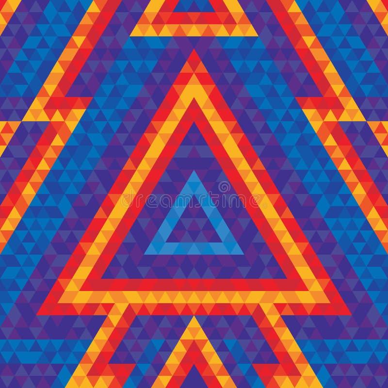 Абстрактная геометрическая предпосылка - vector безшовная картина для плаката и рогульки танцев Диаграммы треугольника Pyramide иллюстрация вектора
