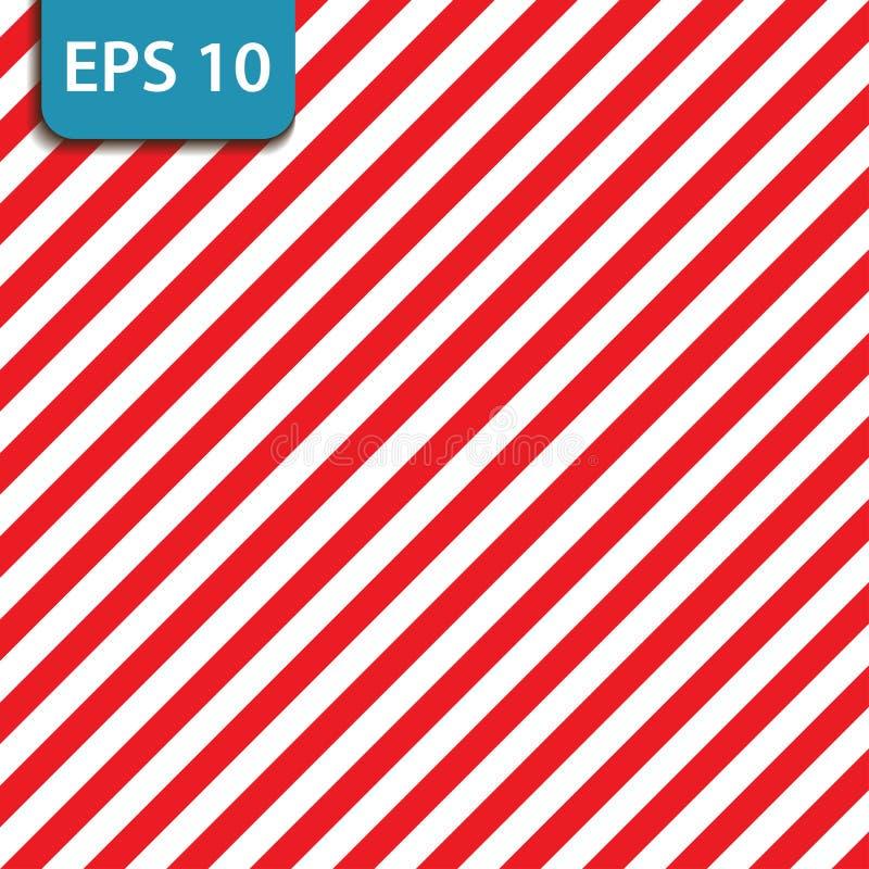 Абстрактная геометрическая раскосная striped картина с красными и белыми нашивками также вектор иллюстрации притяжки corel стоковые изображения rf