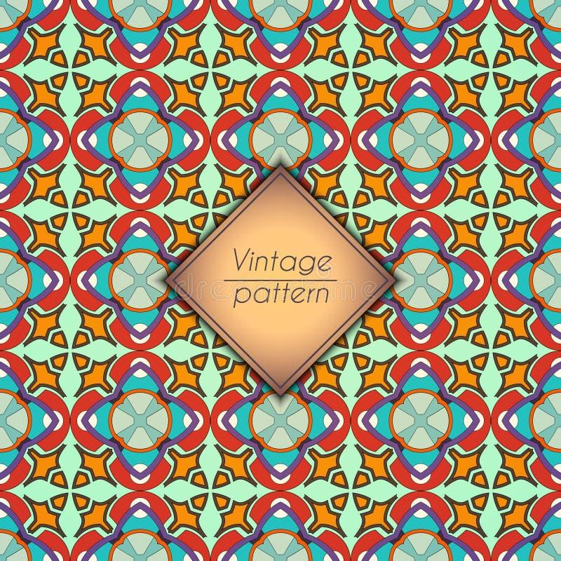 Абстрактная геометрическая ретро безшовная картина Предпосылка вектора стоковая фотография