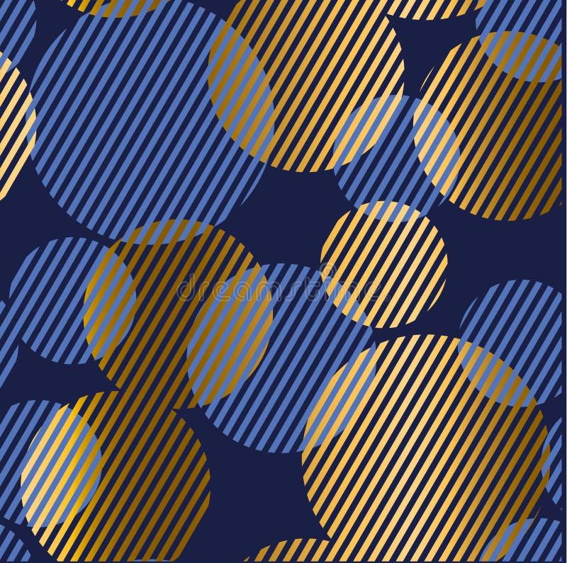 Абстрактная геометрическая роскошная безшовная картина с круглым bouble ele иллюстрация штока