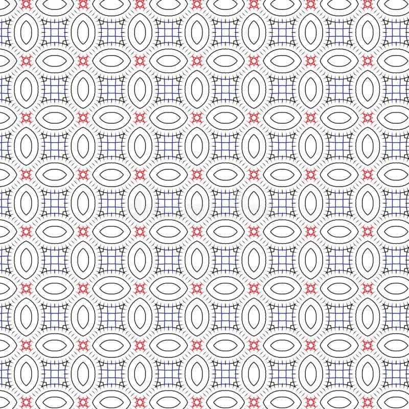 Абстрактная геометрическая сетка эллипсиса орнамента выравнивает иллюстрацию предпосылки картины вектора безшовную иллюстрация вектора