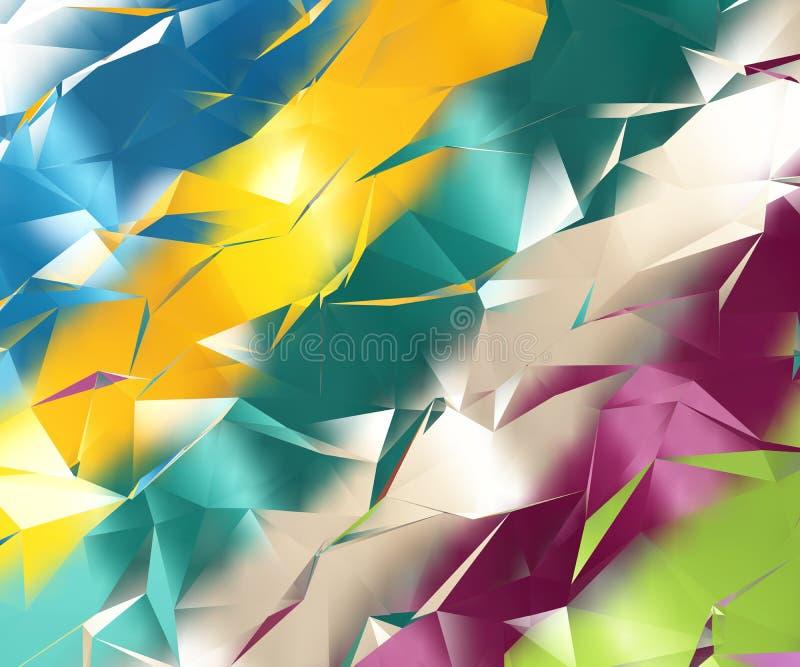 Абстрактная геометрическая цветастая предпосылка иллюстрация штока