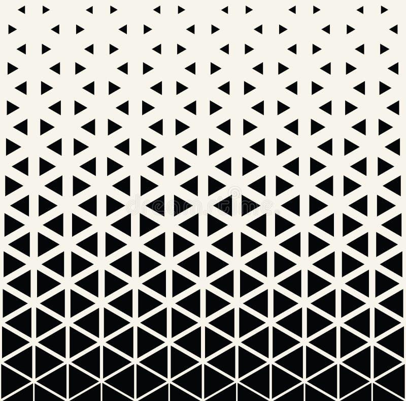 Абстрактная геометрическая черно-белая картина треугольника полутонового изображения печати искусства deco иллюстрация штока