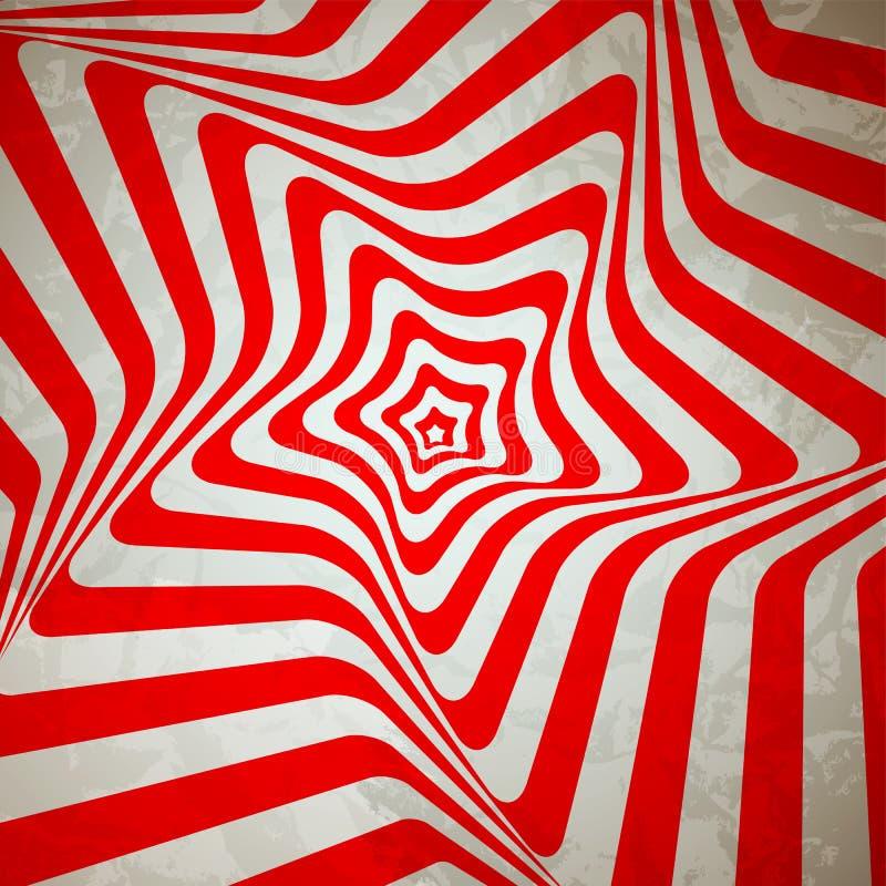 Абстрактная гипнотическая ретро предпосылка. Вектор бесплатная иллюстрация