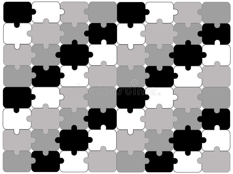 абстрактная головоломка предпосылки иллюстрация штока