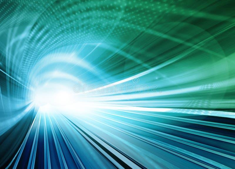 абстрактная голубая запачканная скорость движения иллюстрация штока