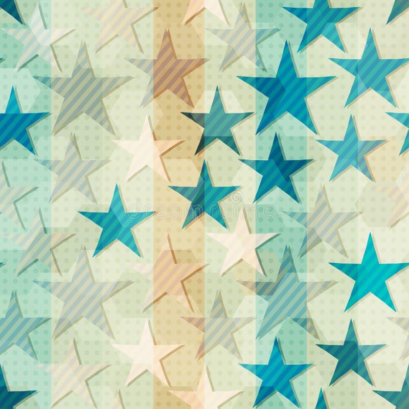 Абстрактная голубая звезда безшовная иллюстрация вектора