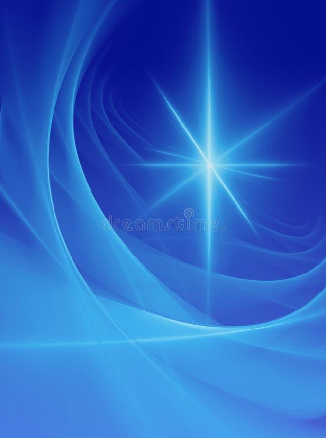 абстрактная голубая звезда иллюстрация вектора