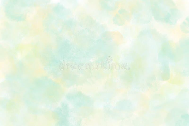 Абстрактная голубая и желтая зеленая предпосылка акварели в высоком разрешении иллюстрация вектора