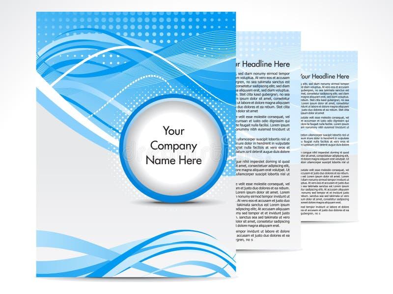 абстрактная голубая конструкция брошюры бесплатная иллюстрация