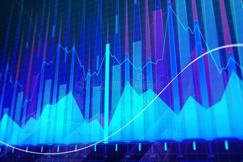 Абстрактная голубая предпосылка валют иллюстрация вектора