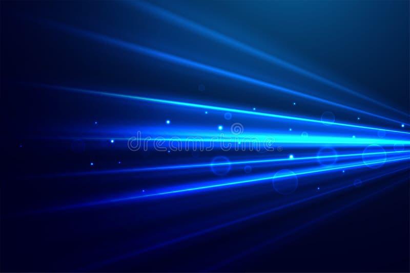 Абстрактная голубая предпосылка лучей технологии бесплатная иллюстрация