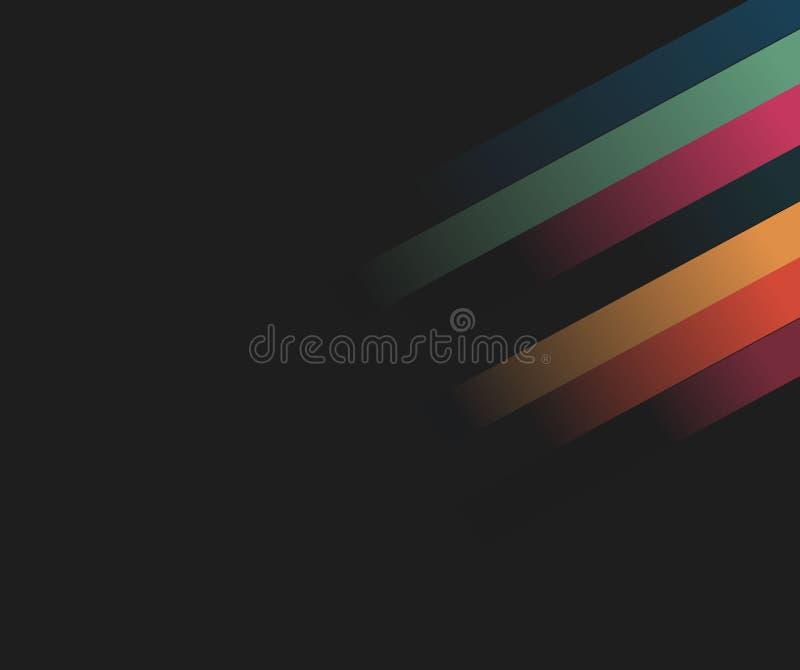Абстрактная голубая предпосылка с линиями технология иллюстрации r бесплатная иллюстрация