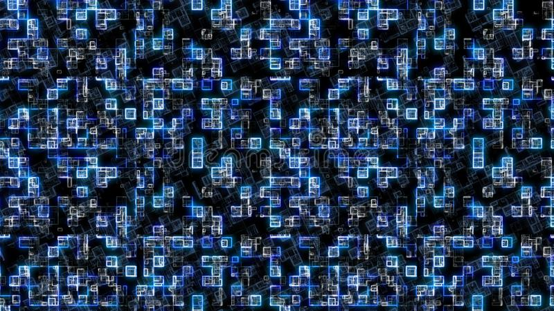 Абстрактная голубая предпосылка Предпосылка технологии, от концепции серии самой лучшей глобального бизнеса иллюстрация 3d иллюстрация вектора