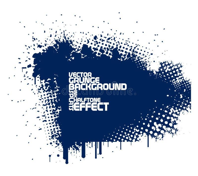 Абстрактная голубая предпосылка grunge иллюстрация штока