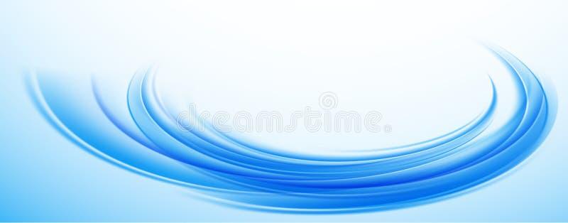 Абстрактная голубая пульсация воды предпосылки Красочная голубая предпосылка o бесплатная иллюстрация