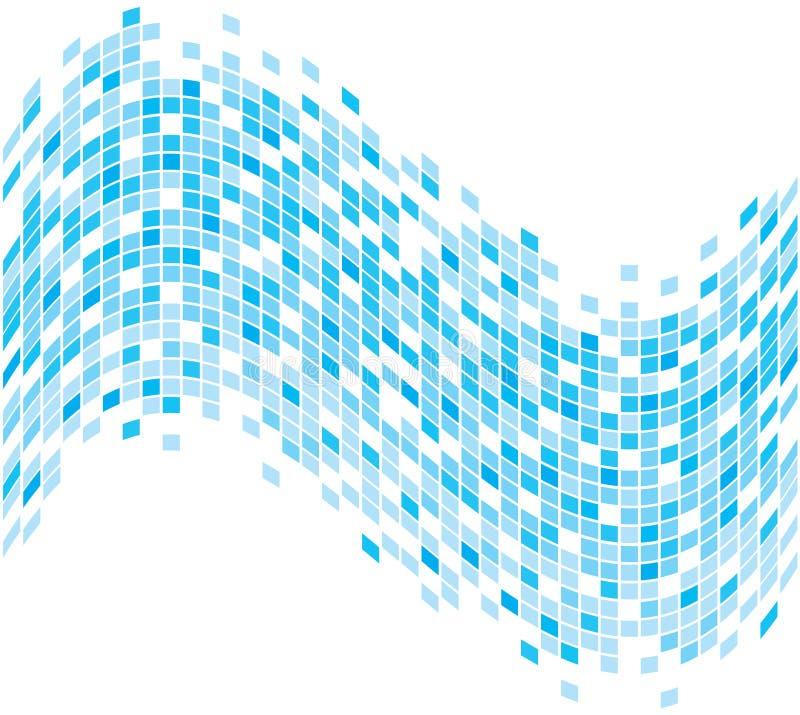 абстрактная голубая pixelated волна лета иллюстрация штока