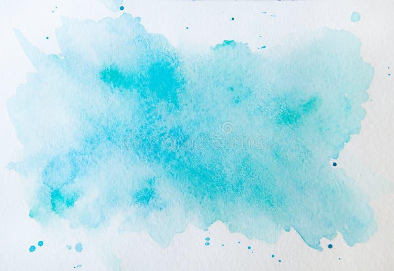 Абстрактная голубая акварель на белой предпосылке Это акварель бесплатная иллюстрация