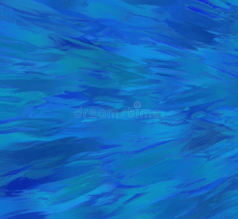 Абстрактная голубая волнистая предпосылка, волны темноты и свет - голубая текстура иллюстрация штока